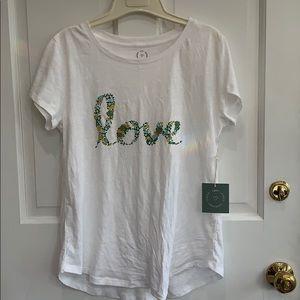 White fashion T-shirt